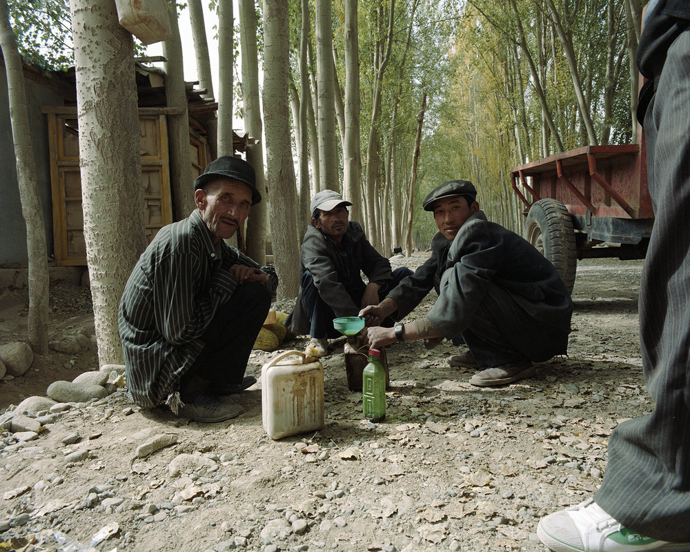 2007 Xinjiang - patrol station at Main Street.