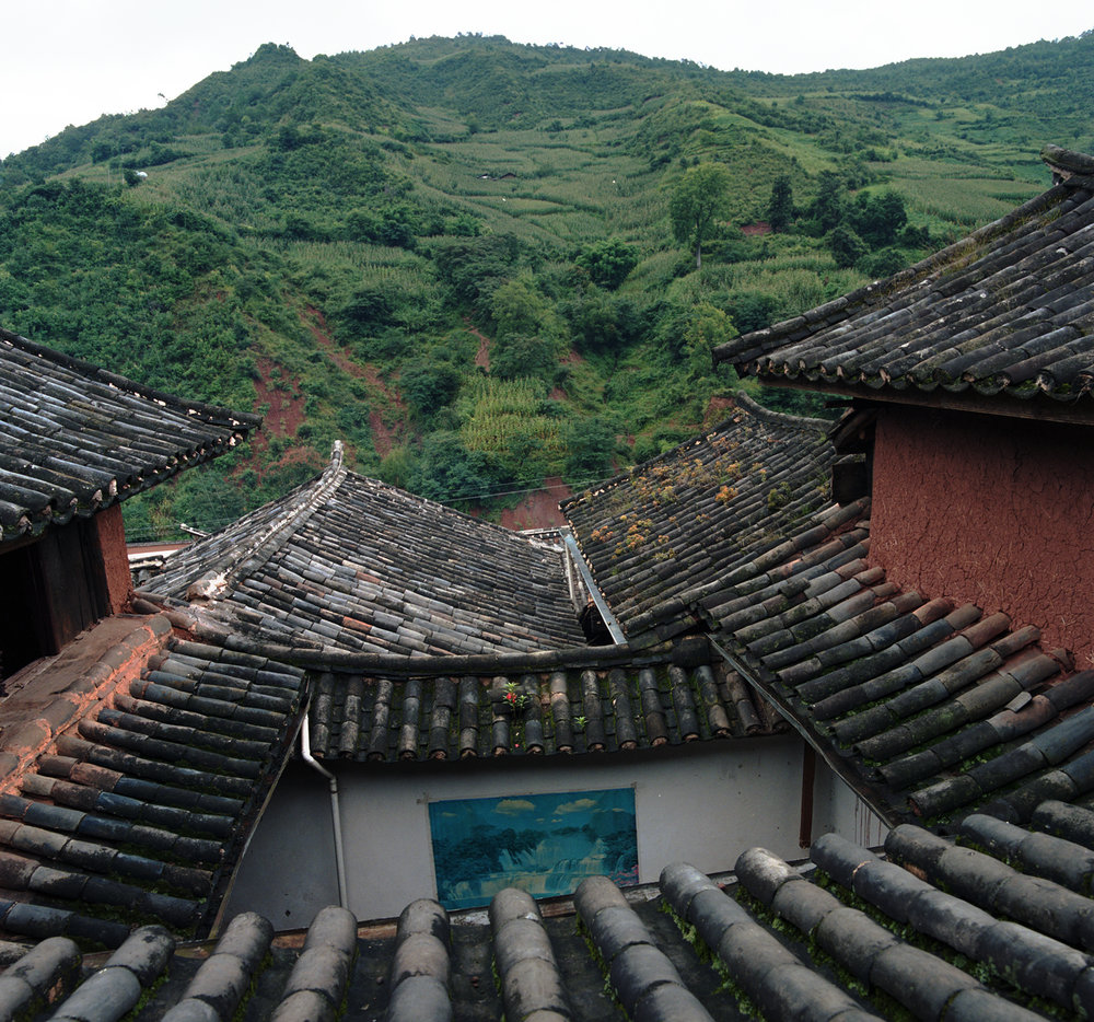 2008 Yunnan - looking at the big house from above. This once was one house. Now a number of families are living here.