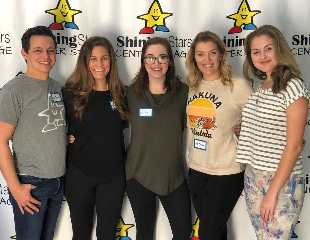 From left to right: James Faurote, Melissa Feldman, Lidia Douglas, Anna Morris, Tori Keuhn
