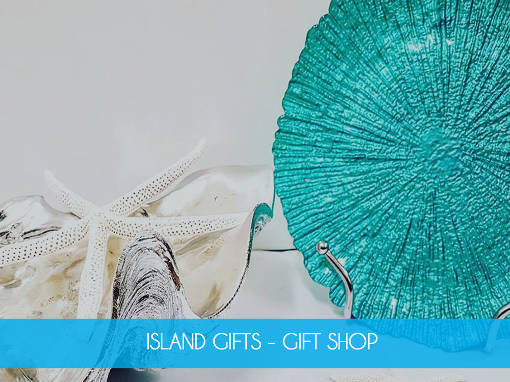 ISLAND GIFTS    Inspired by the crystal blue waters and white sandy beaches of Shoalwater Bay, our ocean themed gift store stocks a range of home wares, gifts, souvenirs, clothes, children's toys, jewellery and more.        MORE INFO