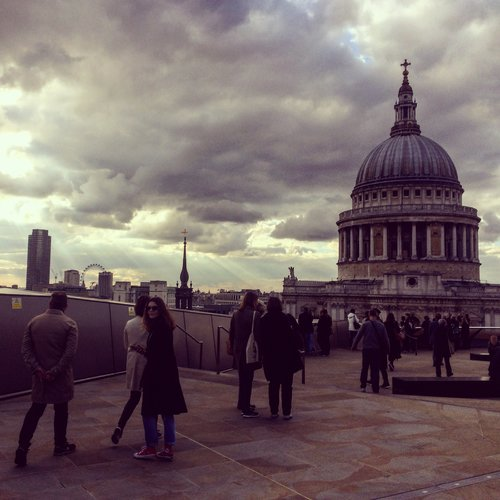 The view from One New Change to St Paul's Cathedral