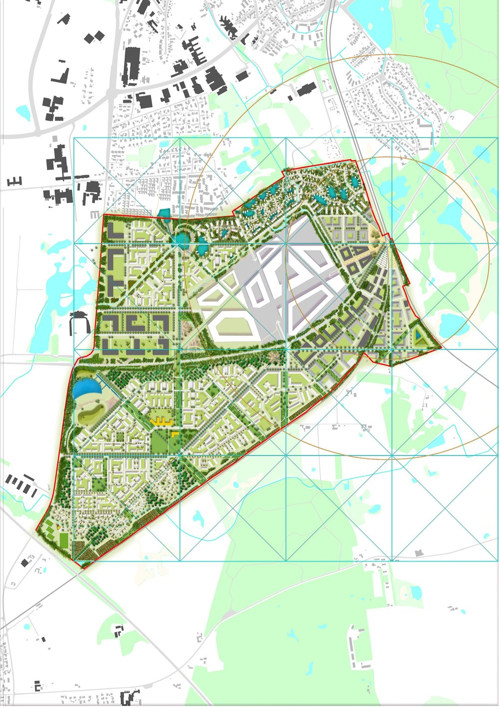 Hillerod Illustrative Plan with grid.jpg