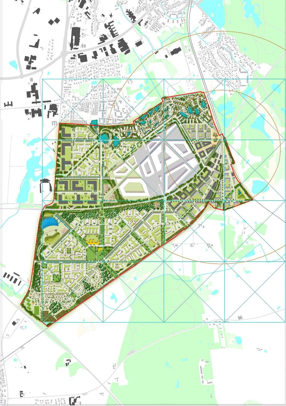 Hillerod Illustrative Plan with grid.jpg
