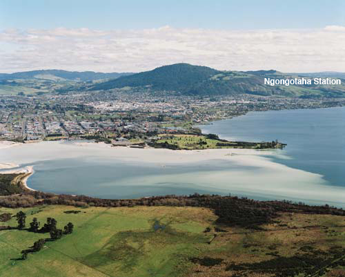 Looking toward Ngongotahā Station across Rotorua City