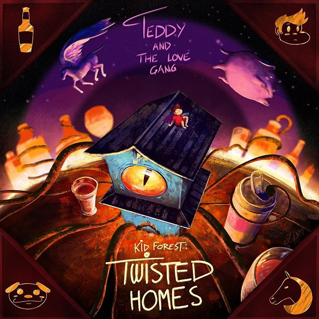 """Kid Forest: """"Twisted Homes"""" out March 9th! @teddyandthelovegang will release three EP's that serve as one cohesive concept, chronicling the character Kid Forest's journey through life. What a weird ride it will be… #pop #rock #newsound #indie"""