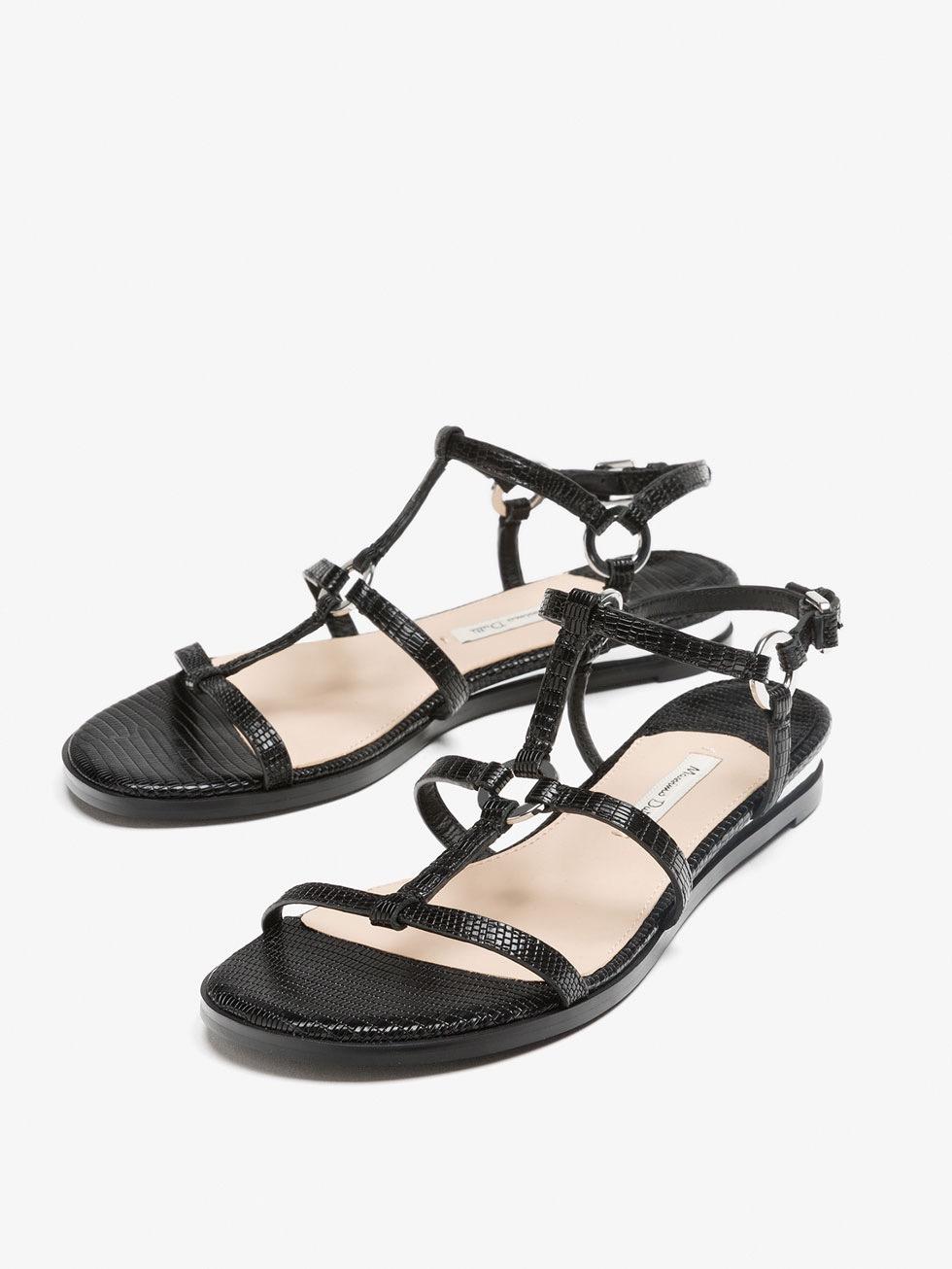Reptile Effect Sandals