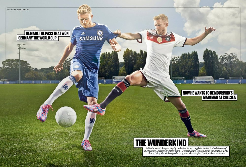 ES Mag - Andre Schurrle double spread.JPG
