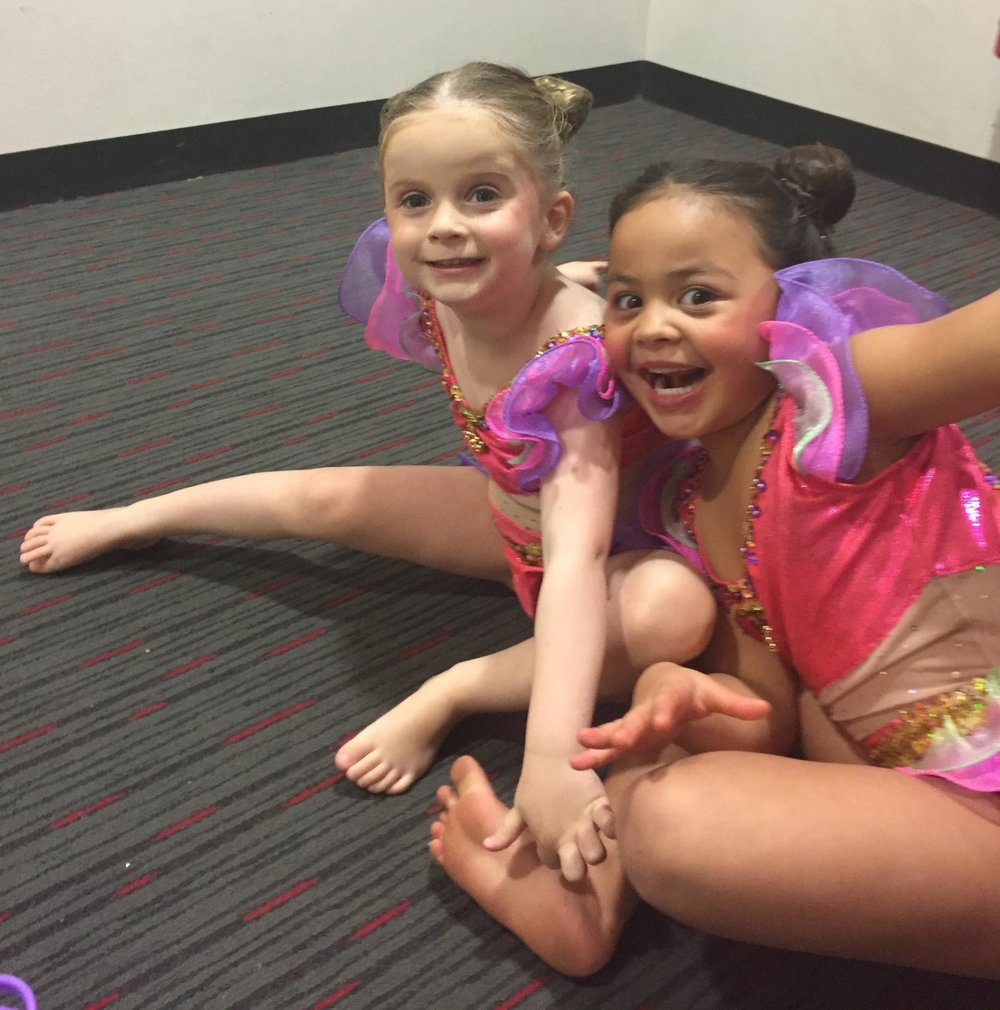 Our Tinies waiting backstage to perform - such fun!