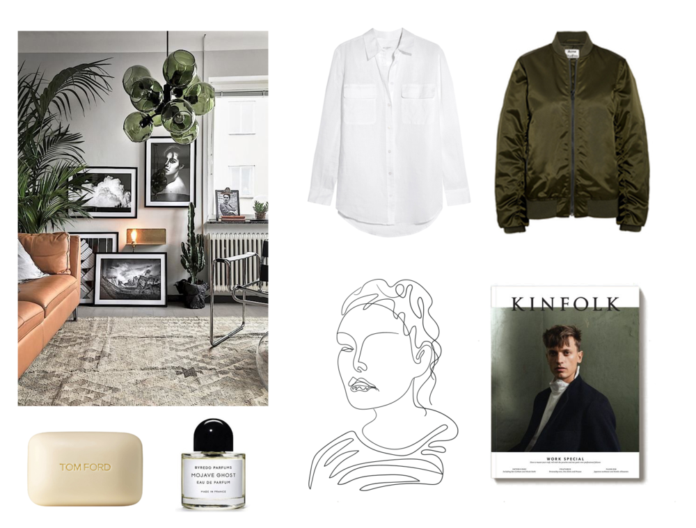 Interior and high end beauty inspiration and best products of the week feautring kinfolk, byredo, tom ford and acne studios as monthly favorites of March 2017.
