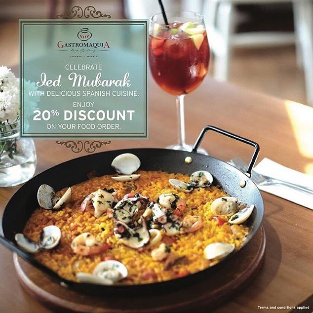Don't forget is tomorrow! Come & enjoy delicacy on Ied Mubarak with family & friend 25th June 2017 until 27th June 2017, get 20% discount on your food! For reservation may contact us (phone number on bio) #repost