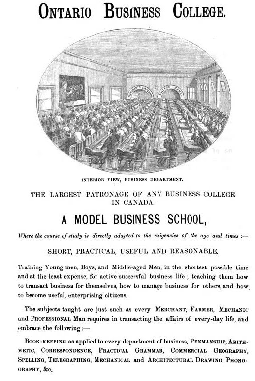 Ad for the O.B.C. circa 1877