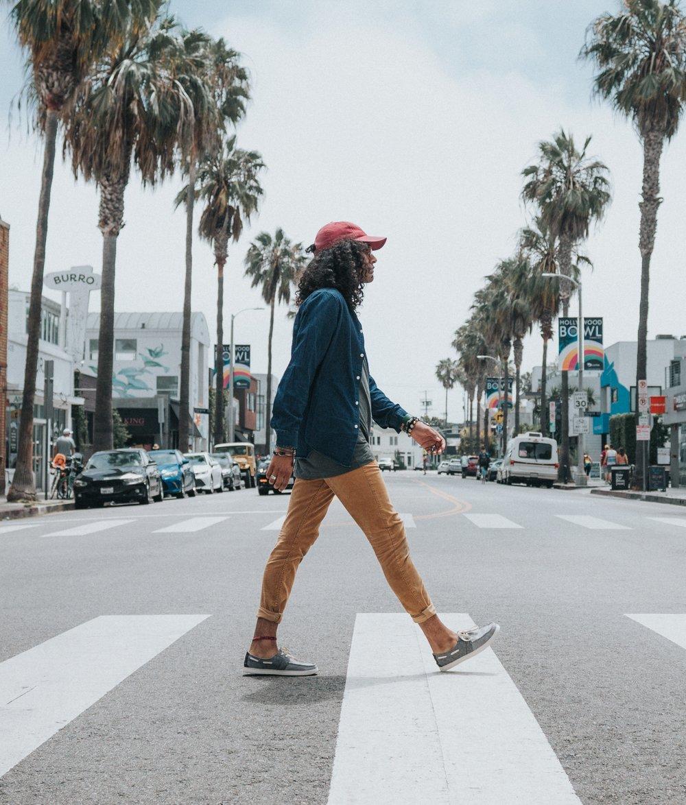 Man walking…