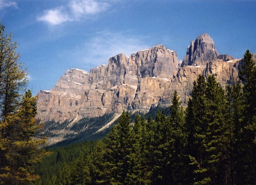 Castle Moutain in Banff, seen from the TransCanada Highway