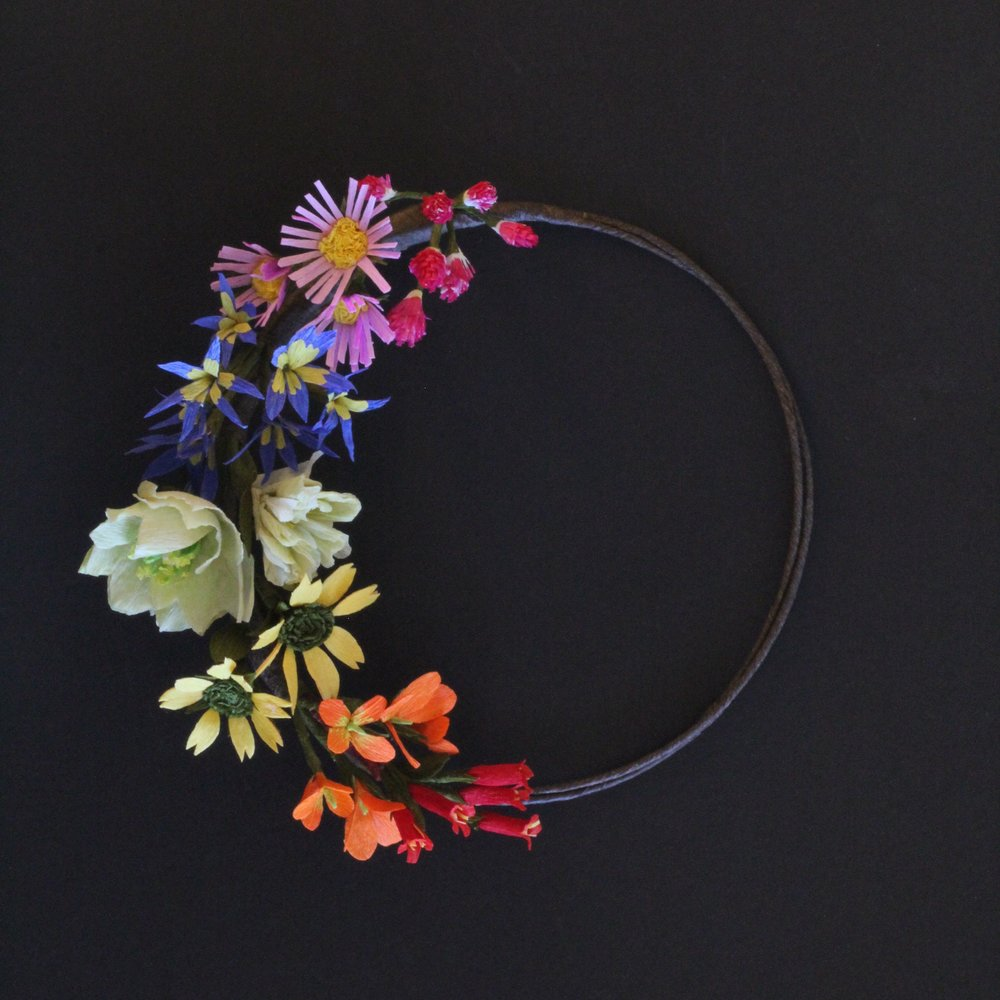 Florabeane Paper Flower Wreath