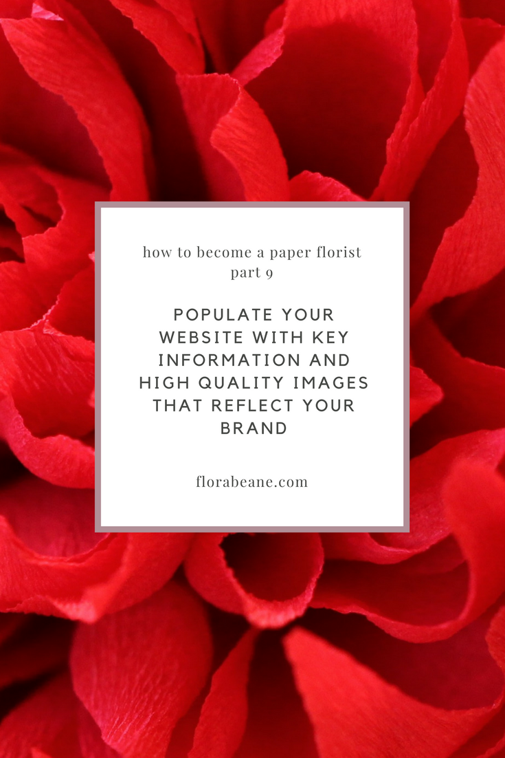 Part 9 in Florabeane's 10-Step Guide on How to Become a Paper Florist
