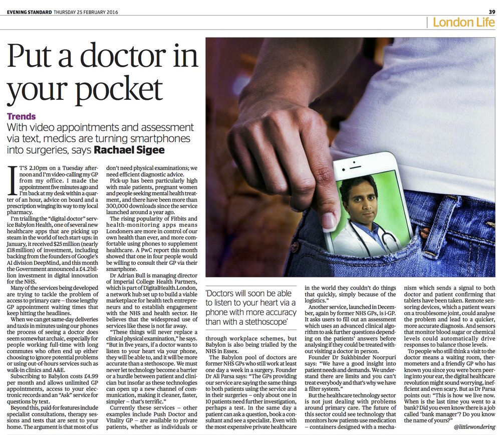 Feature on doctor apps