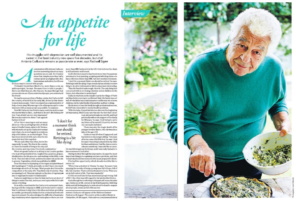 Antonio Carluccio interview Waitrose Weekend