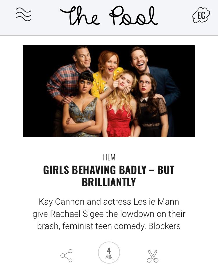 Leslie Mann Kay Cannon interview Blockers