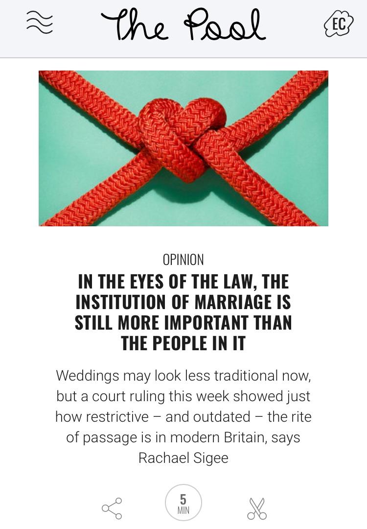 Civil partnerships opinion piece