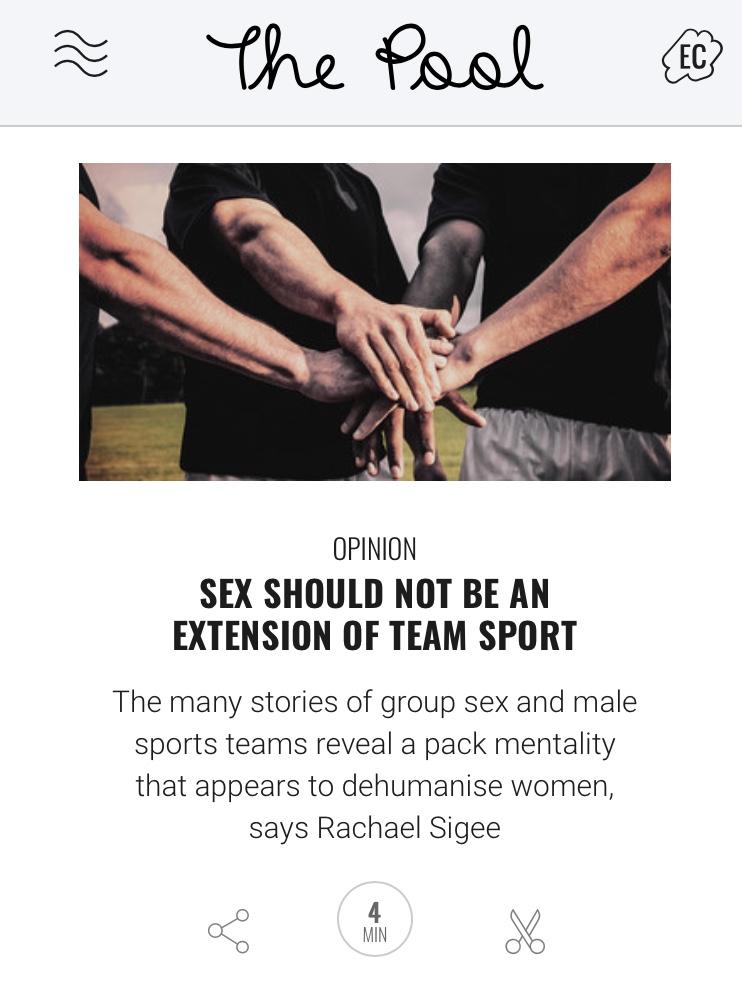 Men's team sport group sex opinion piece
