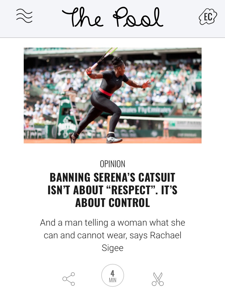 Serena Williams catsuit opinion piece