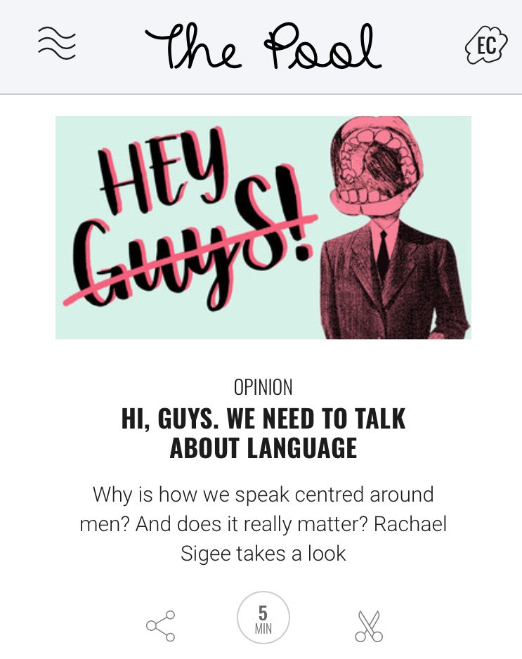 Sexism in language feature