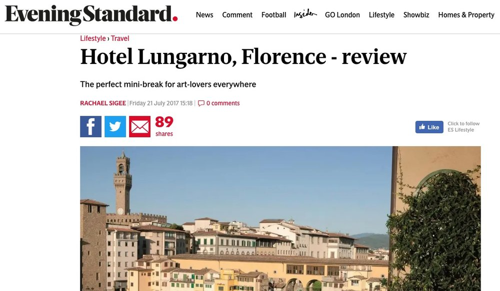 Hotel Lungarno, Florence, review