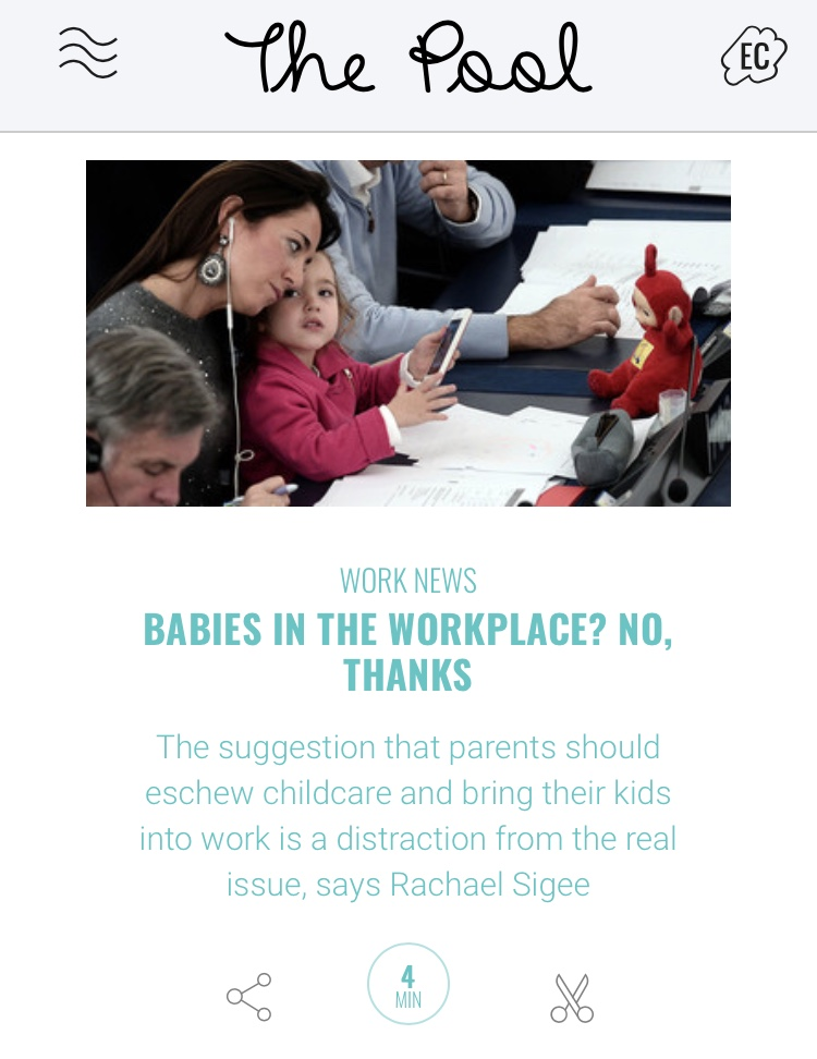 Babies in the workplace