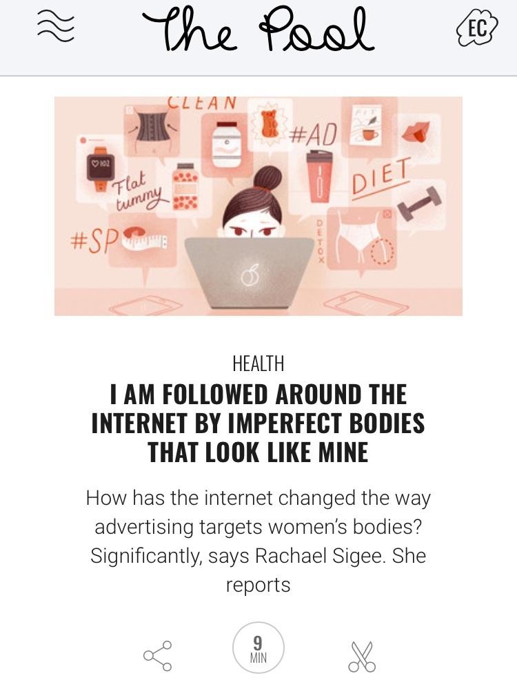 Online diet ads feature
