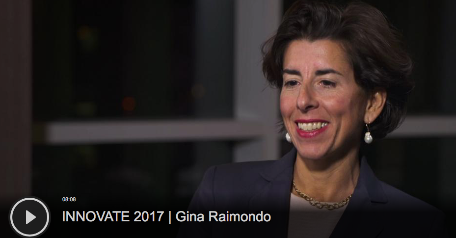 Watch this  video  posted by TechCrunch TV featuring Rhode Island Governor Gina Raimondo as she discusses our vibrant entrepreneurial ecosystem and technology education programs.