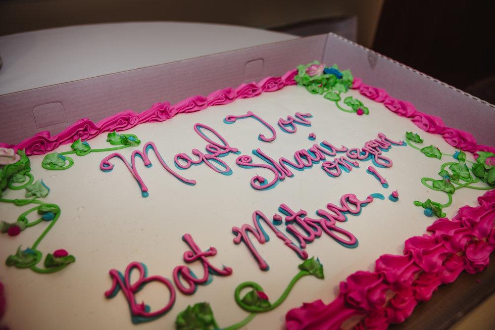 Raleigh Bat Mitzvah, Shani's cake