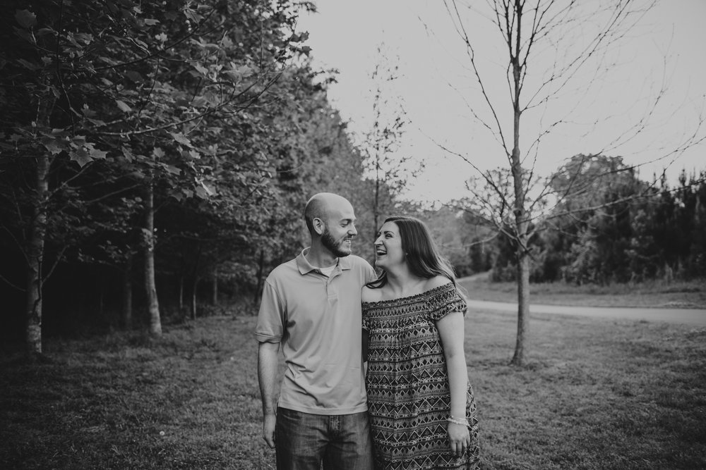 Wake Forest Engagement at Joyner Park, Katie and Tyler
