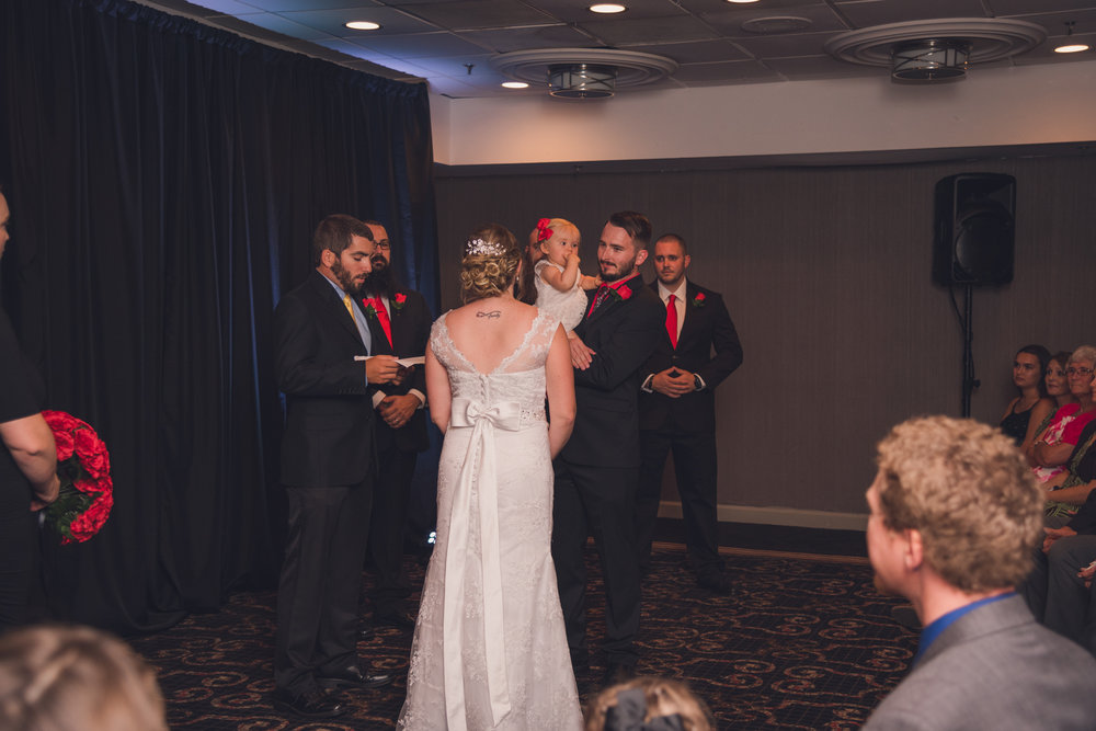 Raleigh Wedding, DoubleTree Hotel, Megan and Adam, ceremony