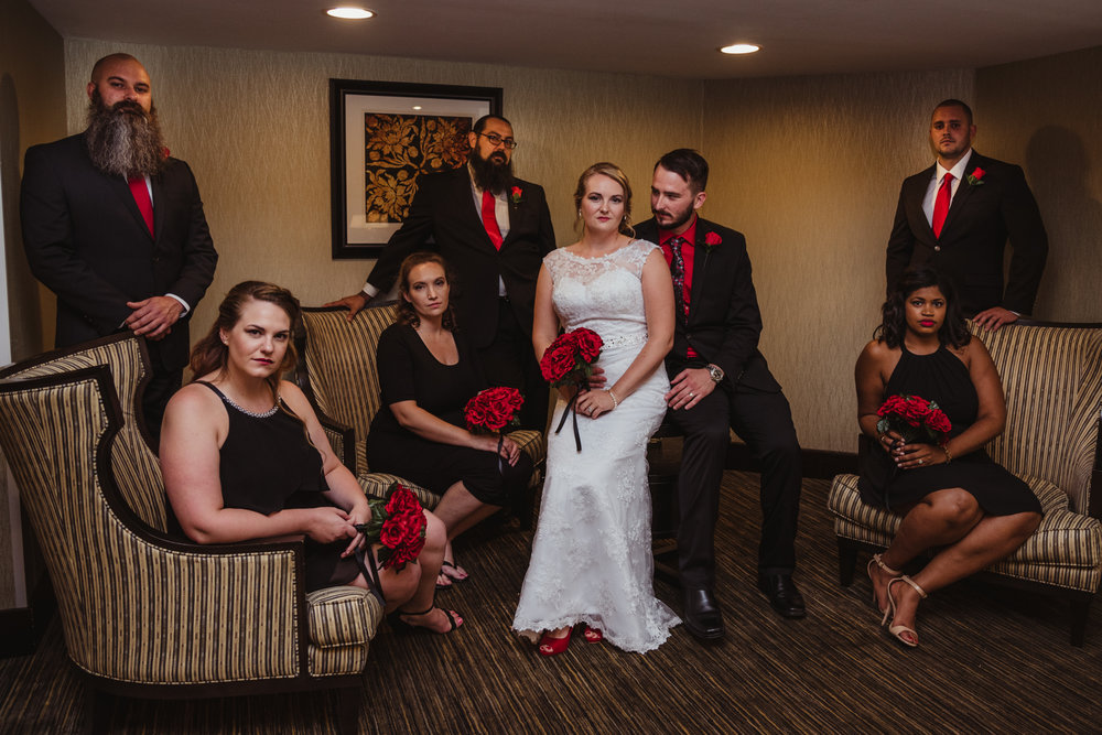 Raleigh Wedding, DoubleTree Hotel, Megan and Adam, portraits