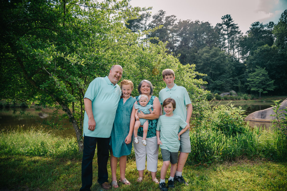 De Hart Botanical Gardens, Louisburg NC, Family Photography