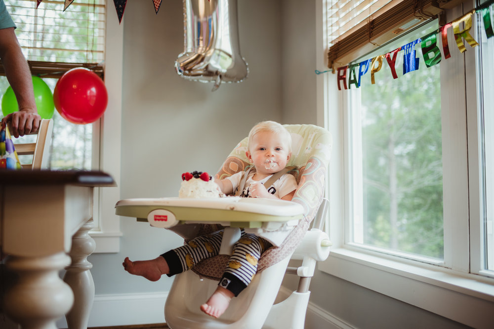 Wake Forest in-home cake smash, lifestyle, Desmond