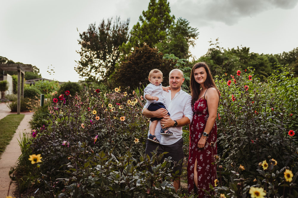Raulston Arboretum, Raleigh family photography, sunset summer session, Mazilu
