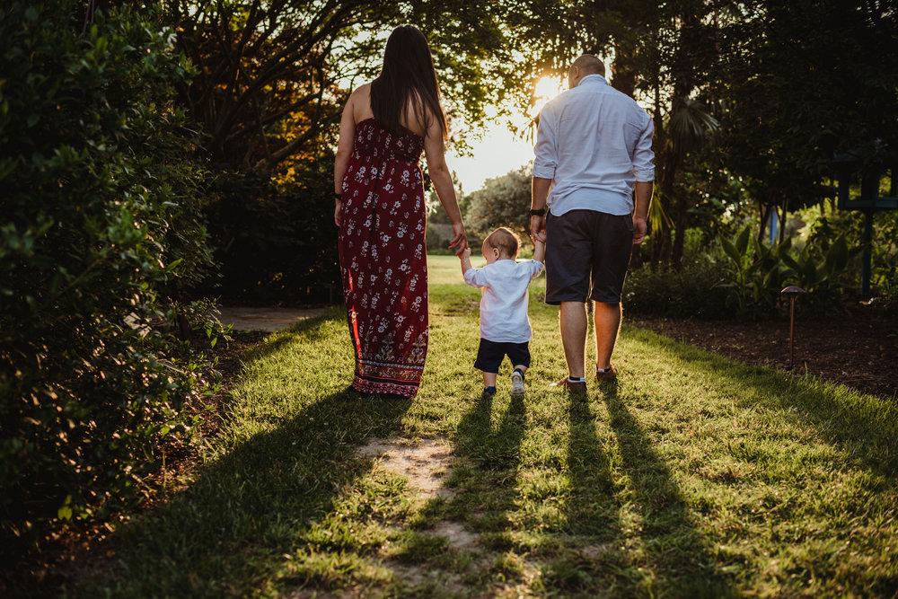 Raulston Arboretum, Raleigh family photography, sunset summer session, Mazilu