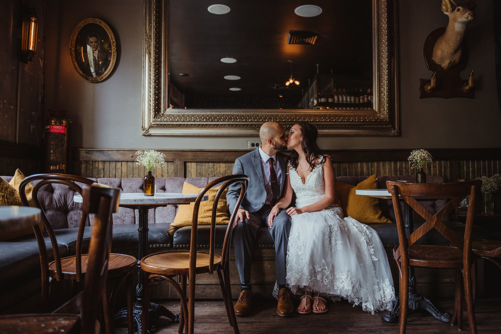 The Architect Bar and Social House, Raleigh, Wedding, Bride and Groom portraits, Martha and Sid