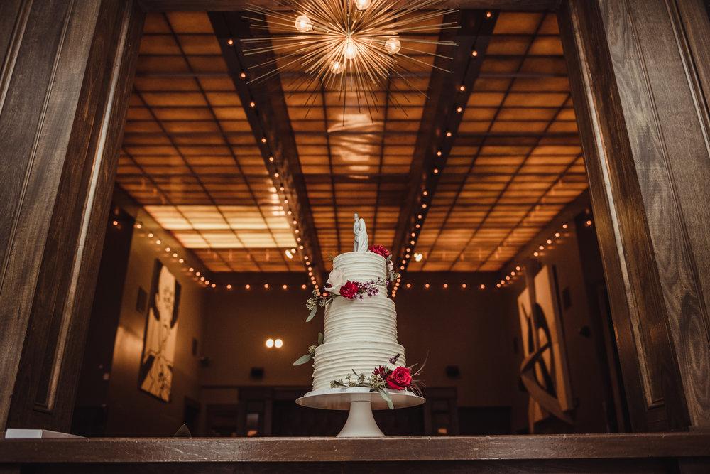 The Architect Bar and Social House, Raleigh Wedding Photography, wedding cake, Martha and Sid