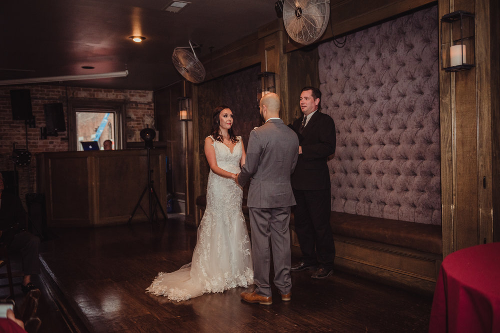 The Architect Bar and Social House, Raleigh Wedding Photography, ceremony, Martha and Sid