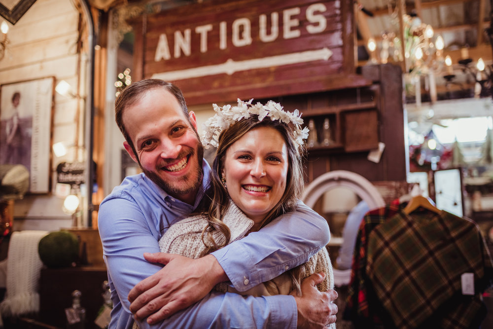 wearing-an-antique-wedding-headpiece-during-their-engagement-shoot-in-Raleigh.jpg