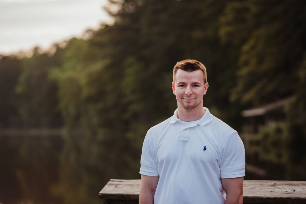 Harrison had his senior portraits done at Durant Nature Preserve in Raleigh, NC by Rose Trail Images.