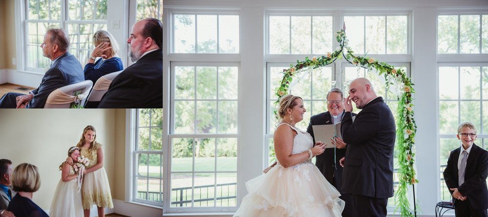 There were tears of joy from everyone at the wedding ceremony at the Rand-Bryan House in Raleigh, photos by Rose Trail Images.