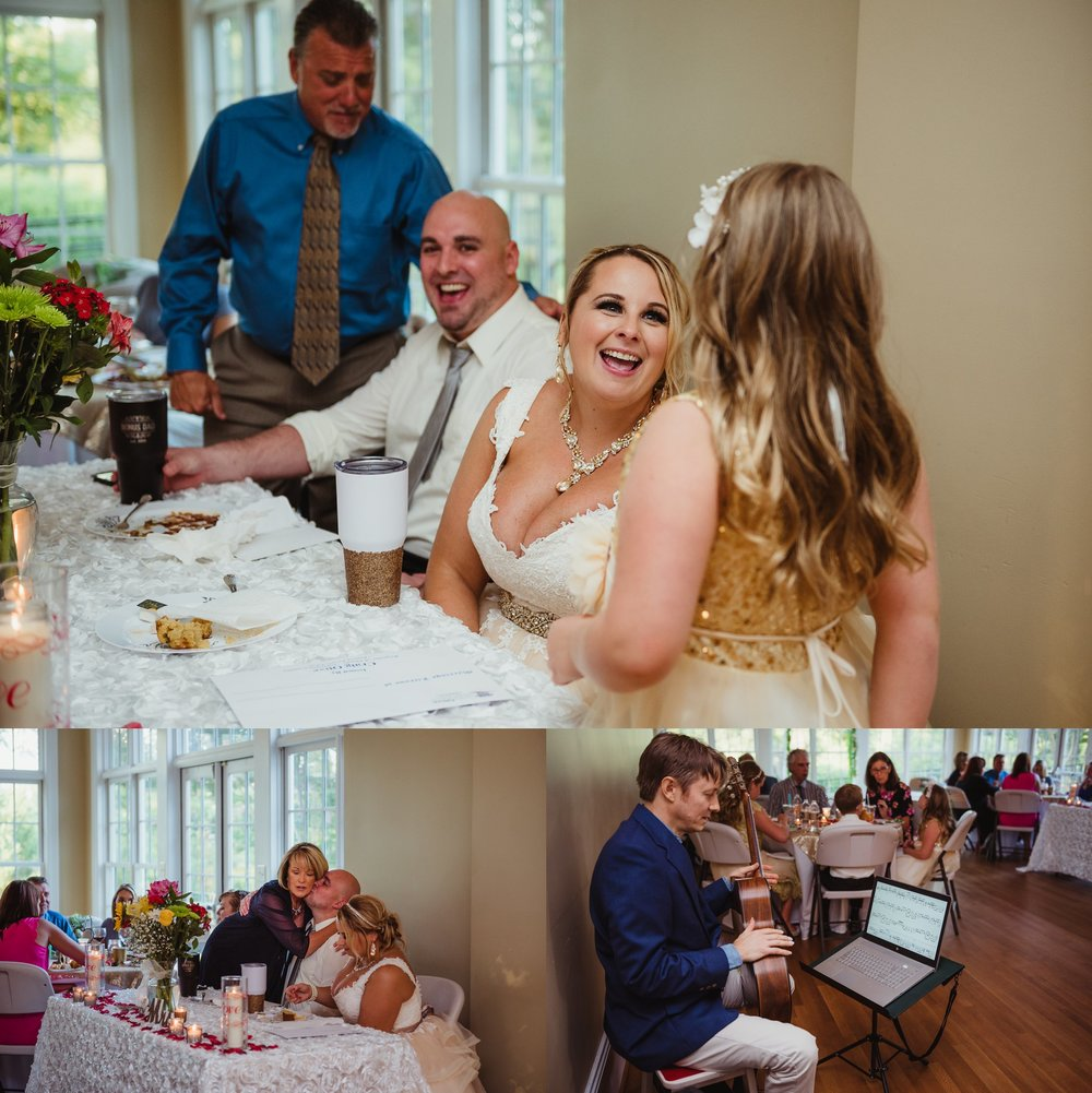 The bride and groom and their guests had a wonderful time at the wedding reception at the Rand-Bryan House in Raleigh, photos by Rose Trail Images.