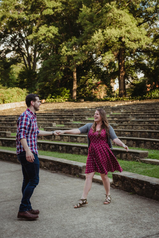 Raleigh Engagement Photographer | Raleigh Rose Garden | Matt and Kat ...