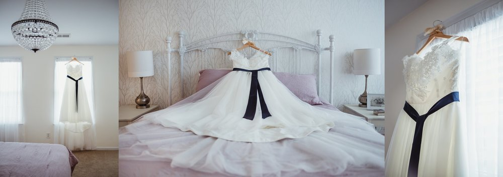 Details of the bride's wedding gown, photos taken in Raleigh NC by Rose Trail Images.