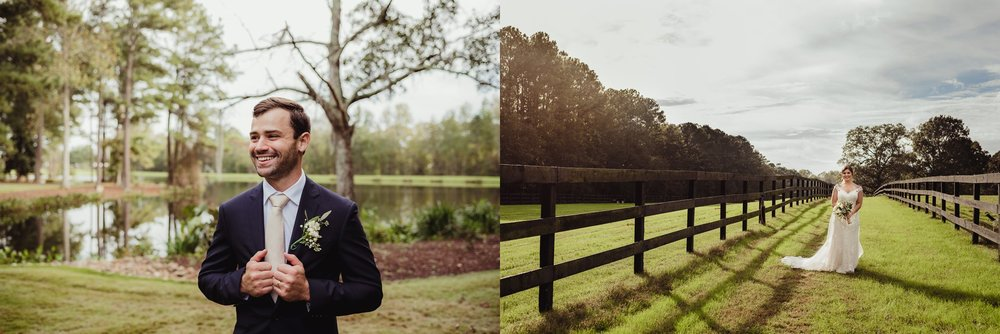The bride and groom take portraits before wedding reception at the Little Herb House in Raleigh, North Carolina. Photos by Rose Trail Images.