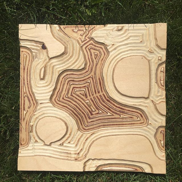More pieces being done out of Baltic birch! Check them out on Etsy! . . . #cnc #balticbirch #art #depth #walnutstain #cncshop #cncrouter #flow #natural #ebb #water #etsy #etsyshop