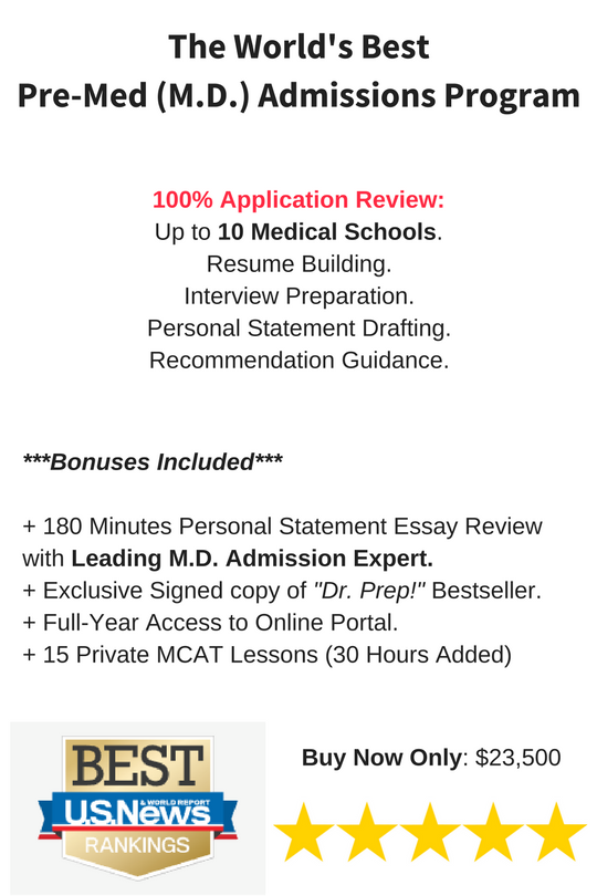 Pre Medical School Admissions Consulting  Resume For Medical School